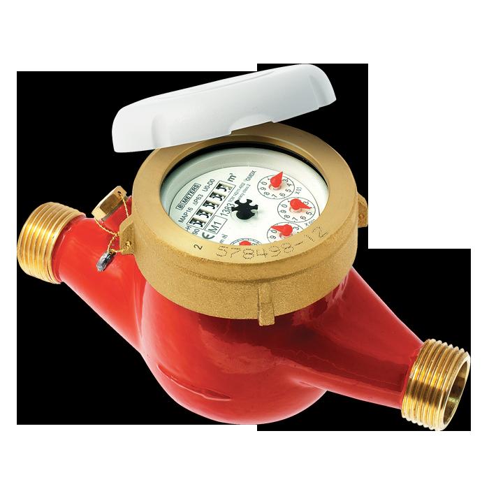 Compteur d'eau chaude jets multiples