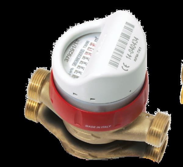 single jet hot water meter