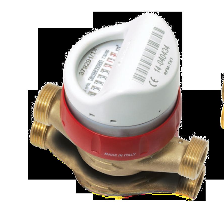 Single Jet hot watermeter