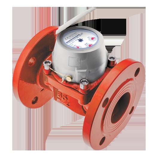 Woltman hot water flow meter